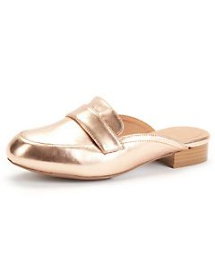 Good Soles Metallic Loafer
