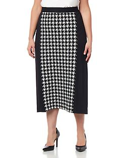 Black Label Fremont Houndstooth Skirt
