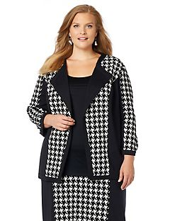 Black Label Fremont Houndstooth Blazer