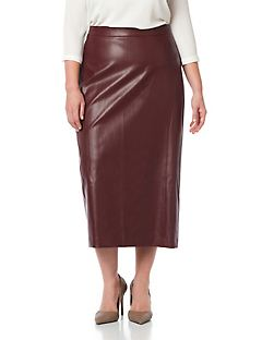 Black Label Vegan Leather Skirt