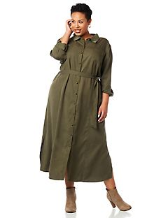 Safari Buttonfront Dress