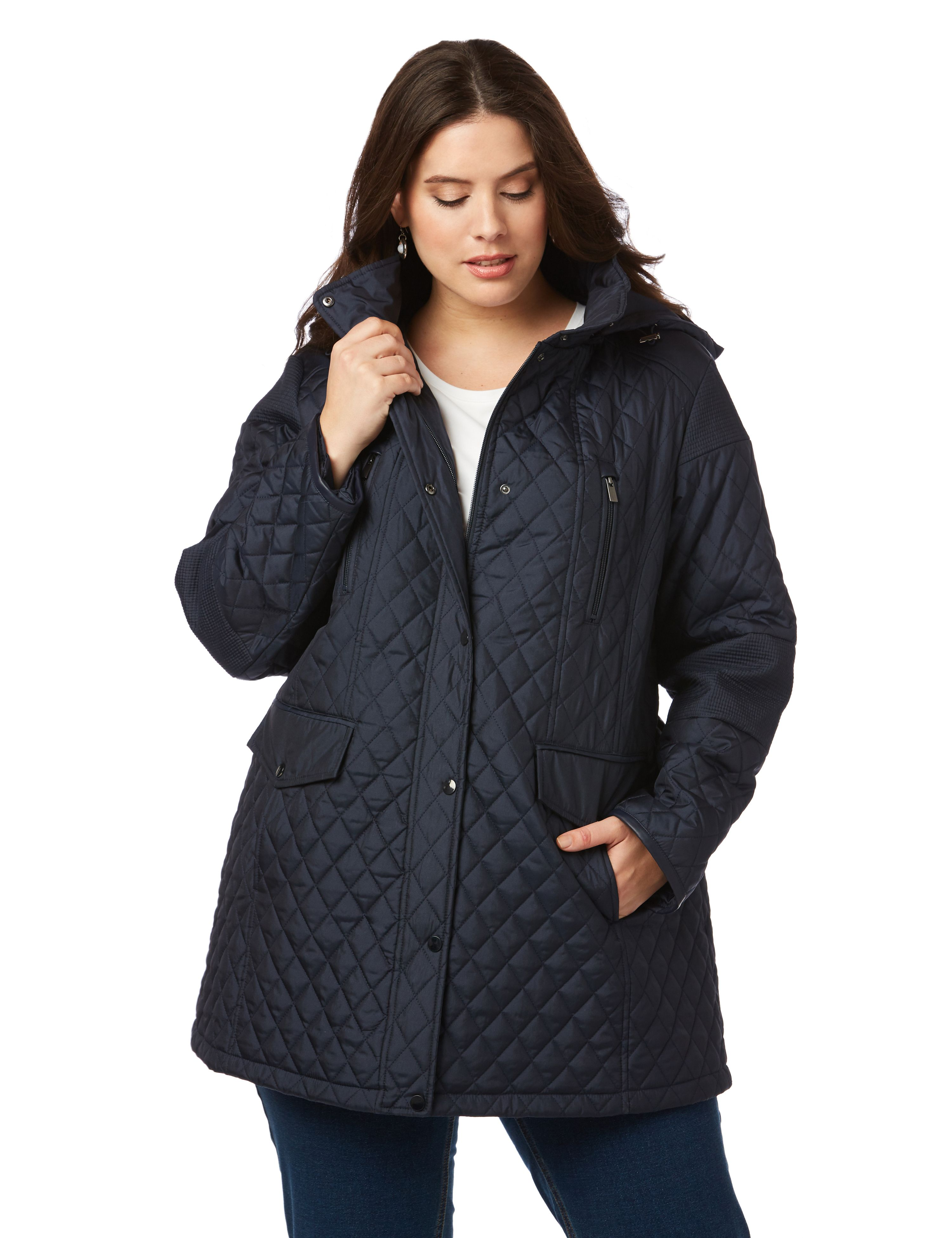 Quilted Parka 1084411 SHINY FABRIC QUILTED TRENCH MP-300080864