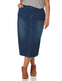 Modern Denim Skirt