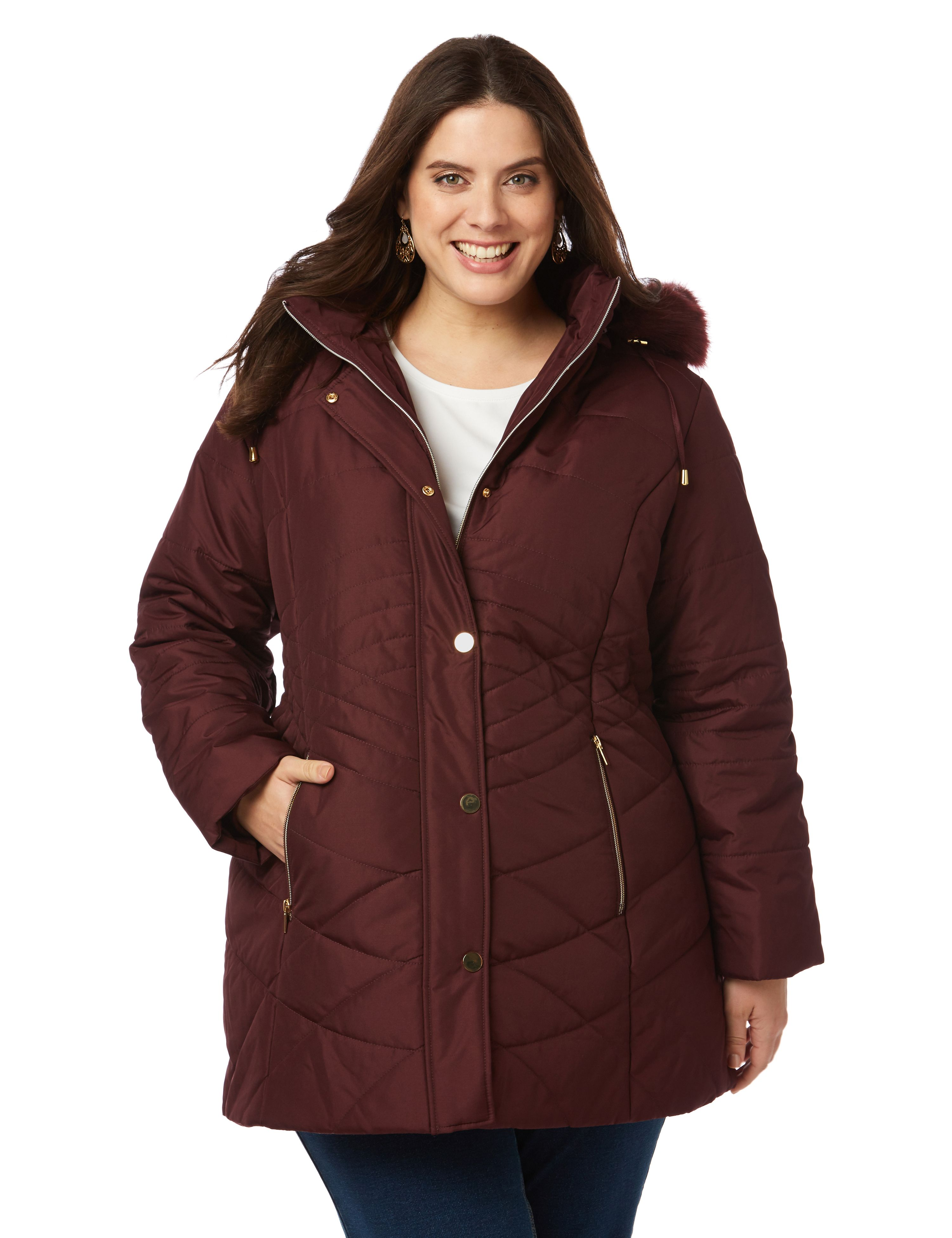 Plus Size Women's Coats & Outerwear | Catherines