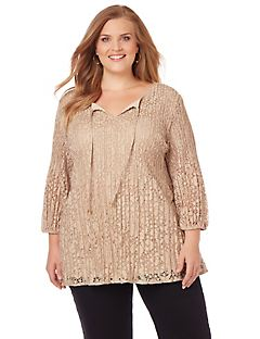 Gilded Lace Top