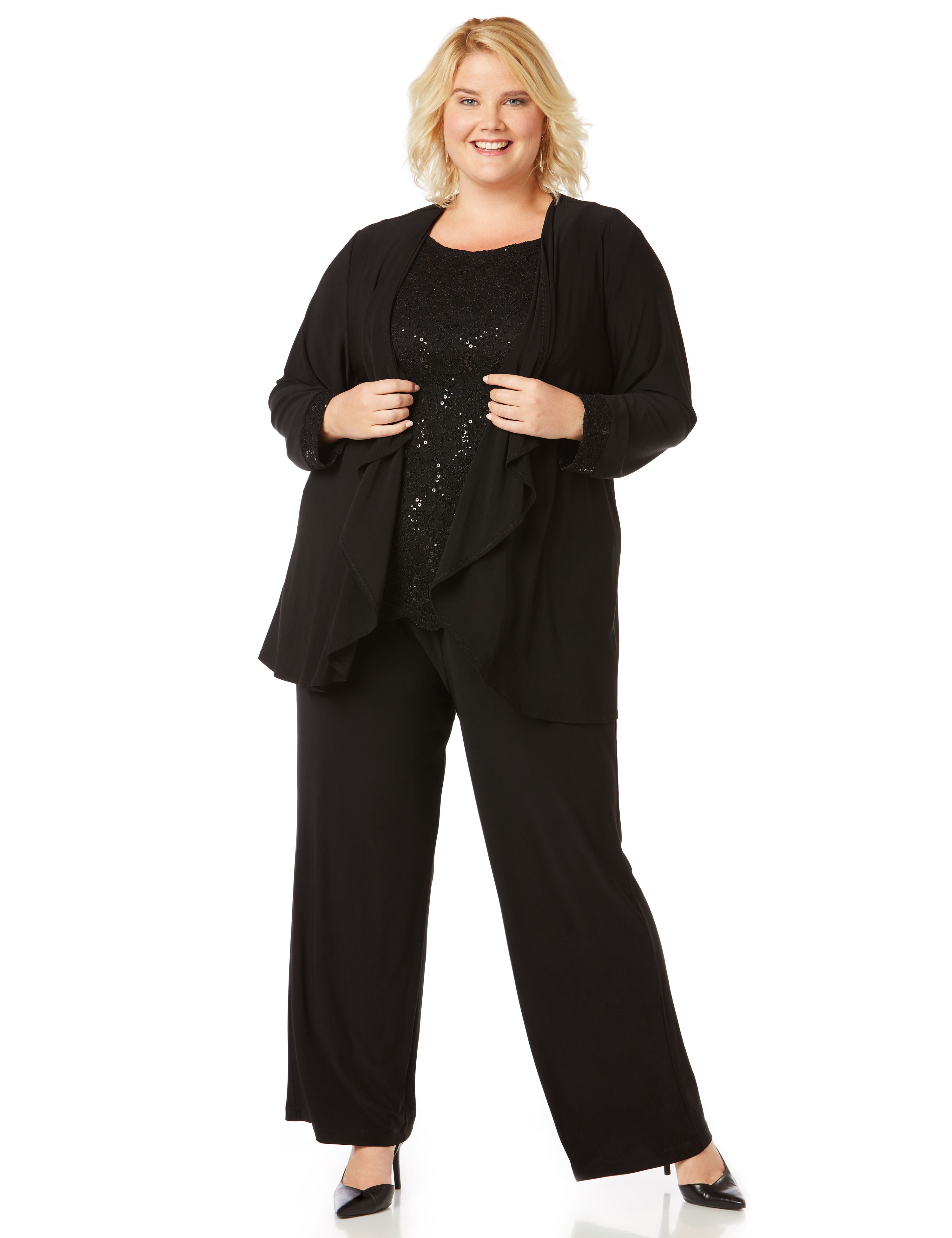 Evening Shine Pantsuit 1086064 TIANNA B PANT SUIT WITH LAC MP-300081736