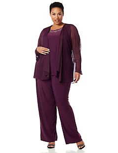 Touch Of Merlot Pantsuit