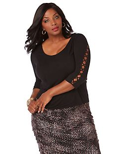 Curvy Collection Luxe Lacing Top