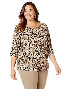 Black Label Cheetah Top