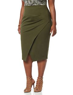 Curvy Collection Surplice Skirt