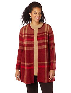 Carroll Plaid Topper