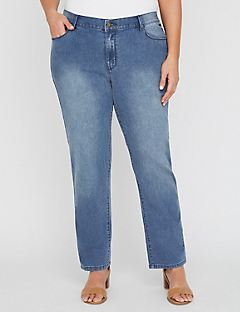 Right Fit Straight Leg Jean (Moderately Curvy)
