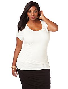 Curvy Collection Ruched Top