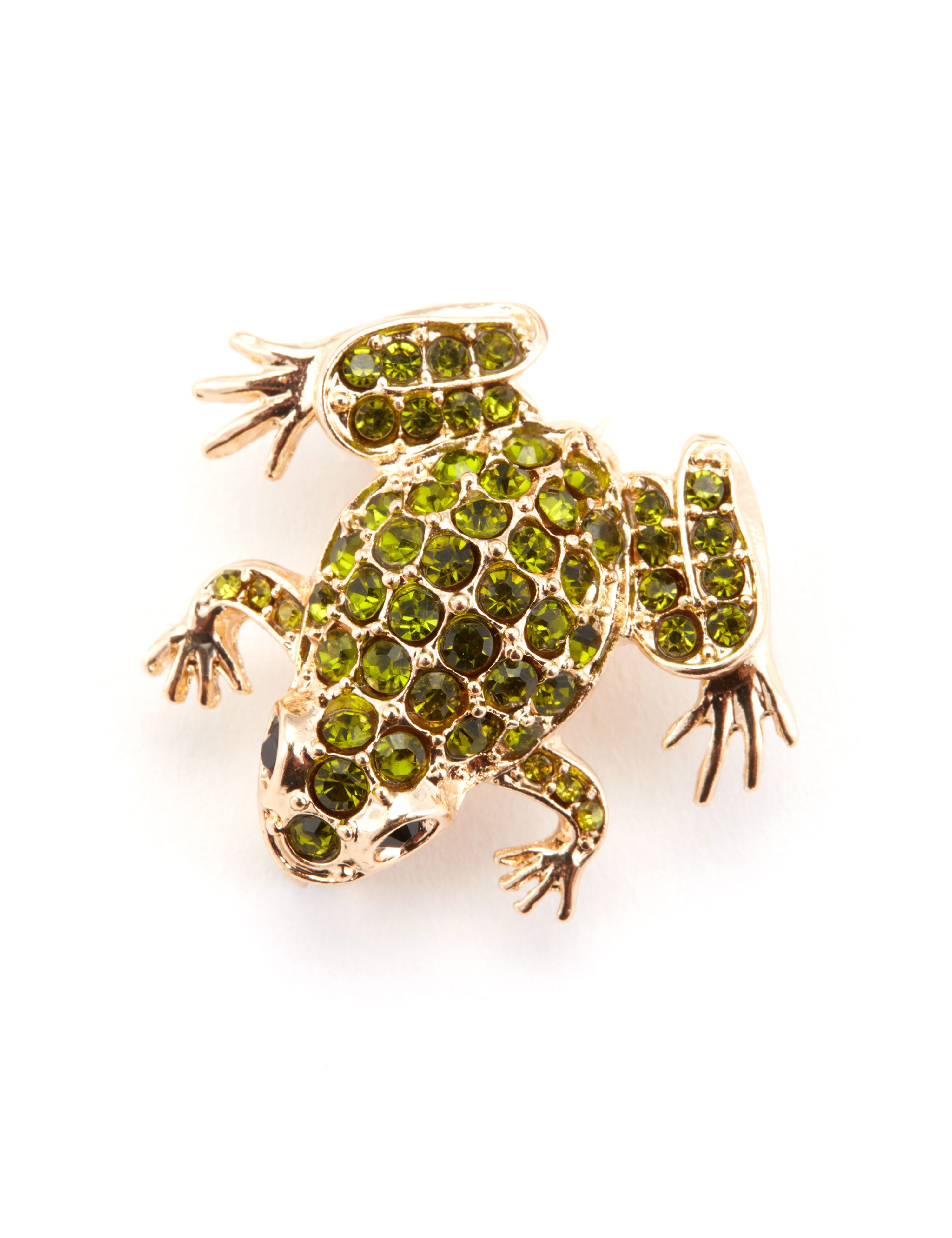 1950s Costume Jewelry Frog Pin $12.00 AT vintagedancer.com