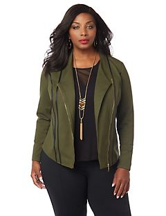 Curvy Collection Ponte Jacket