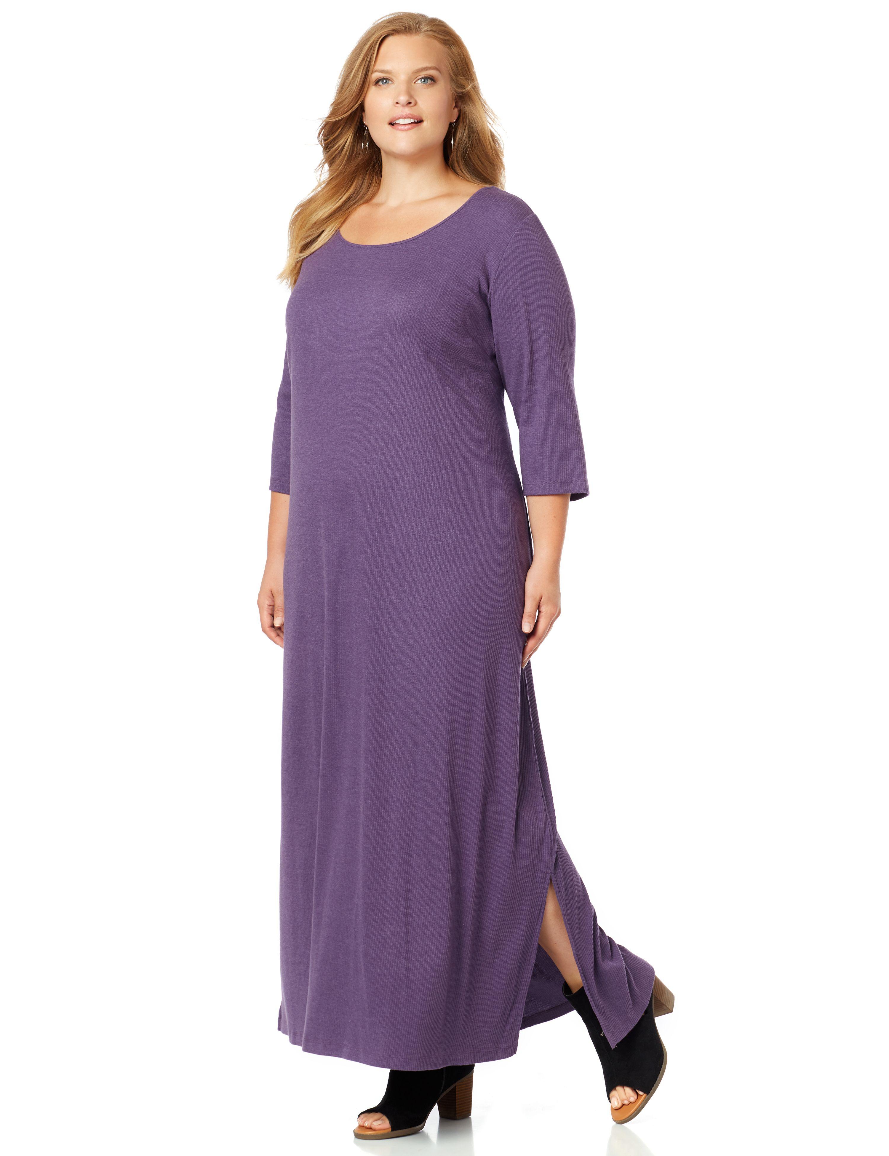 Ribbed Knit Maxi Dress 300084121