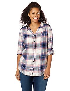 Addison Plaid Buttonfront