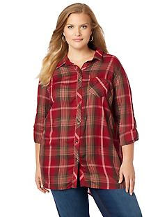 Carlisle Plaid Buttonfront