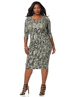 Curvy Collection Ruched Dress