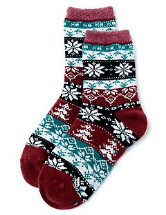 Winter Sweater Double-Layer Slipper Socks