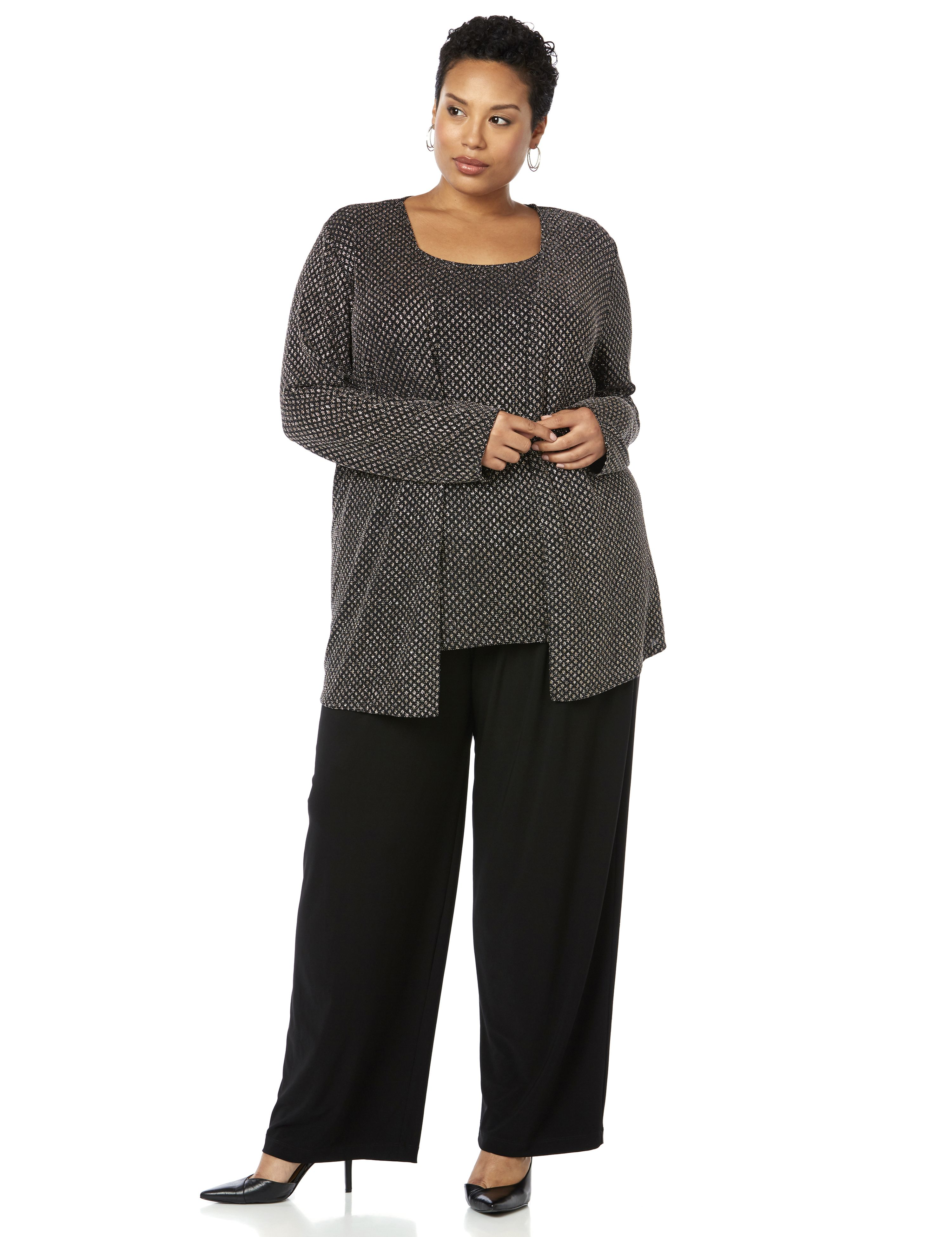 Showtime Pantsuit 1088465 Glitter Knit Pantsuit MP-300087850