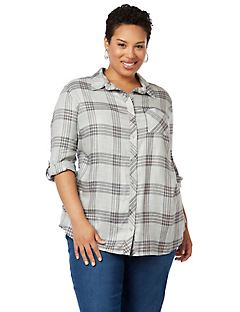 DeVille Plaid Buttonfront