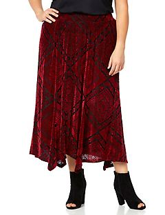 AnyWear Velvet Tile Skirt