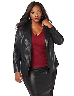 Curvy Collection Moto Jacket