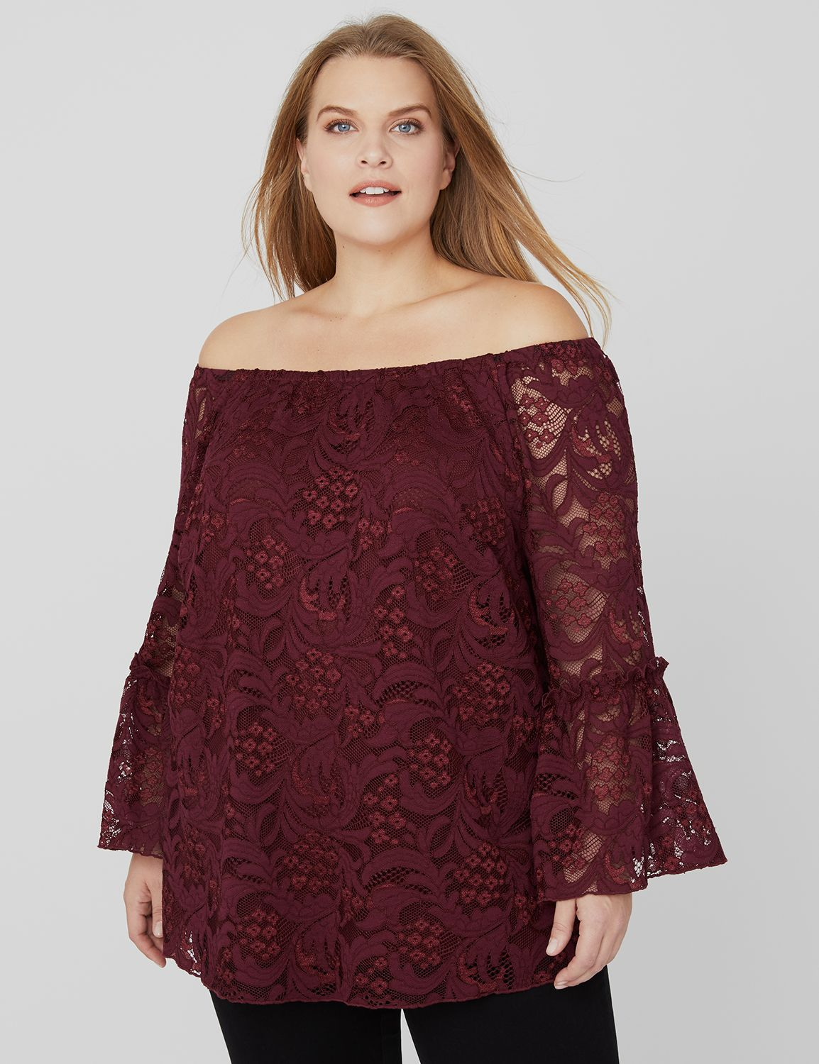 Image result for lace off the shoulder top catherines