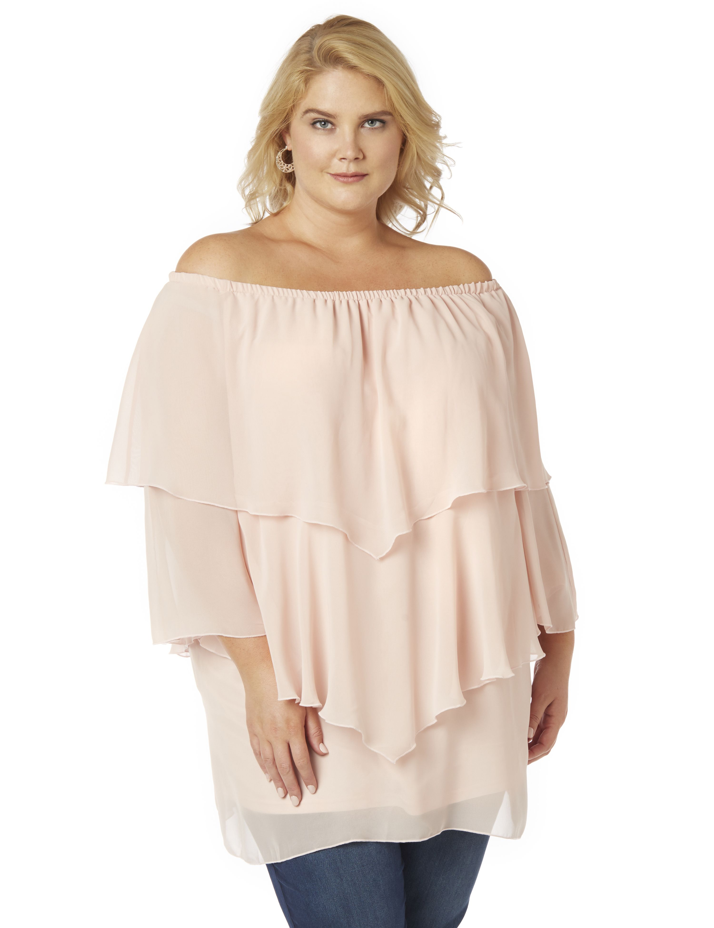Pastel Love Spell Top Tiered Chiffon Top MP-300089788