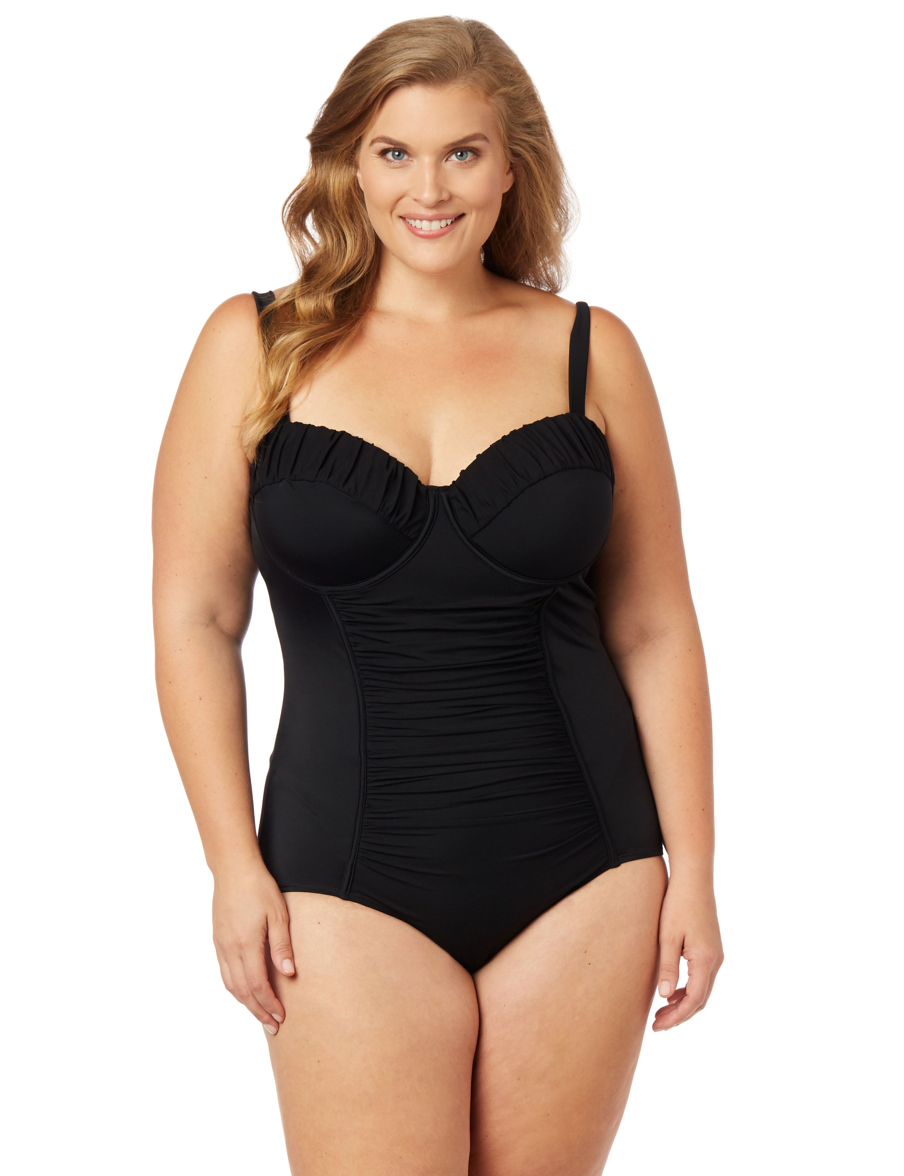 Retro Plus Size Swimsuits Retro Swimsuit $58.99 AT vintagedancer.com