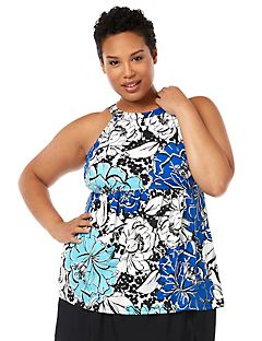 Graphic Floral Tankini Top