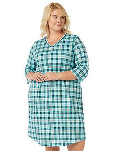 Plaid Henley Sleepshirt