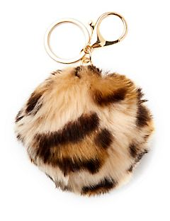 Animal Print Keychain and Handbag Charm