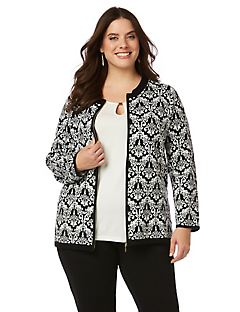 Black Label Damask Cardigan