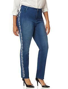 Aztec Embroidery Jean