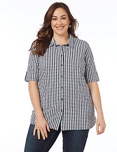 Gingham Buttonfront