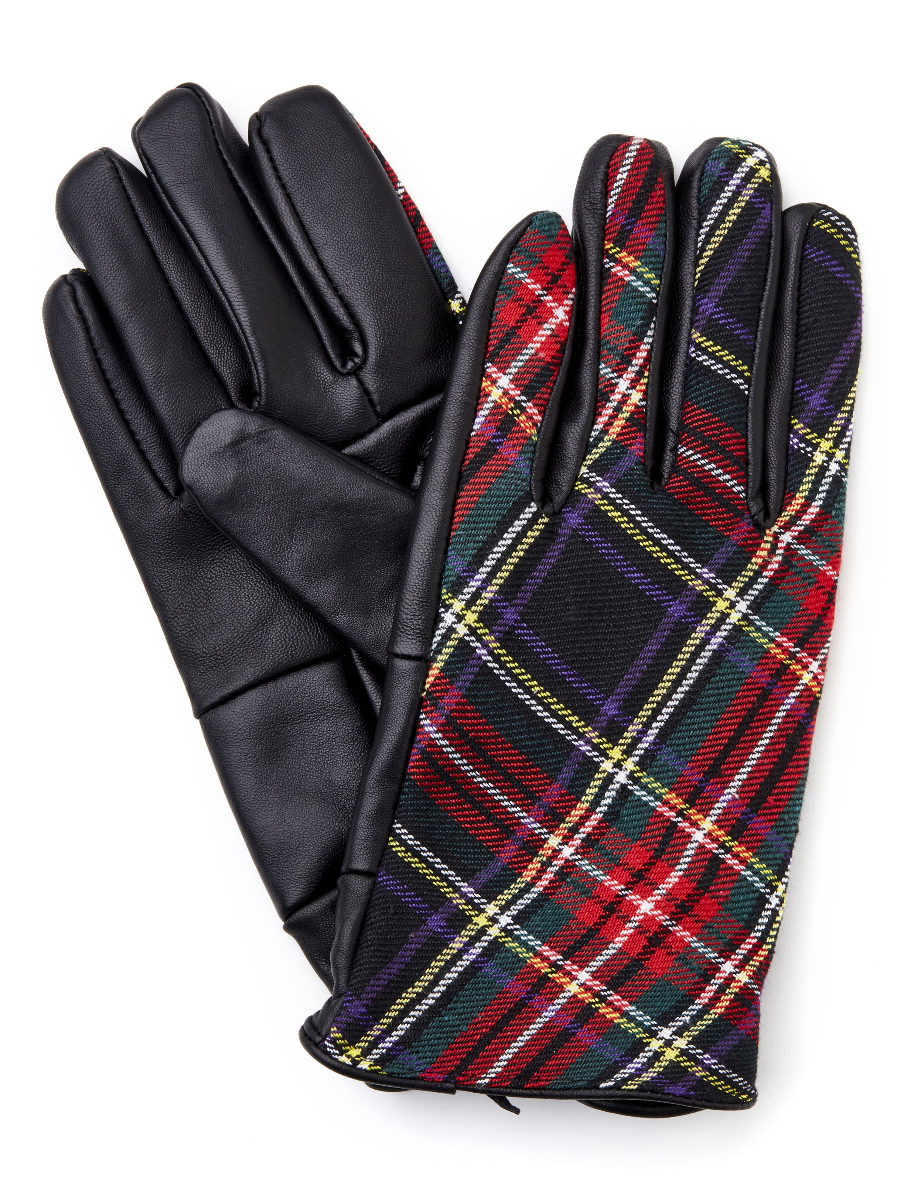 Plaid Glove Plaid/Leather Glove MP-300086447
