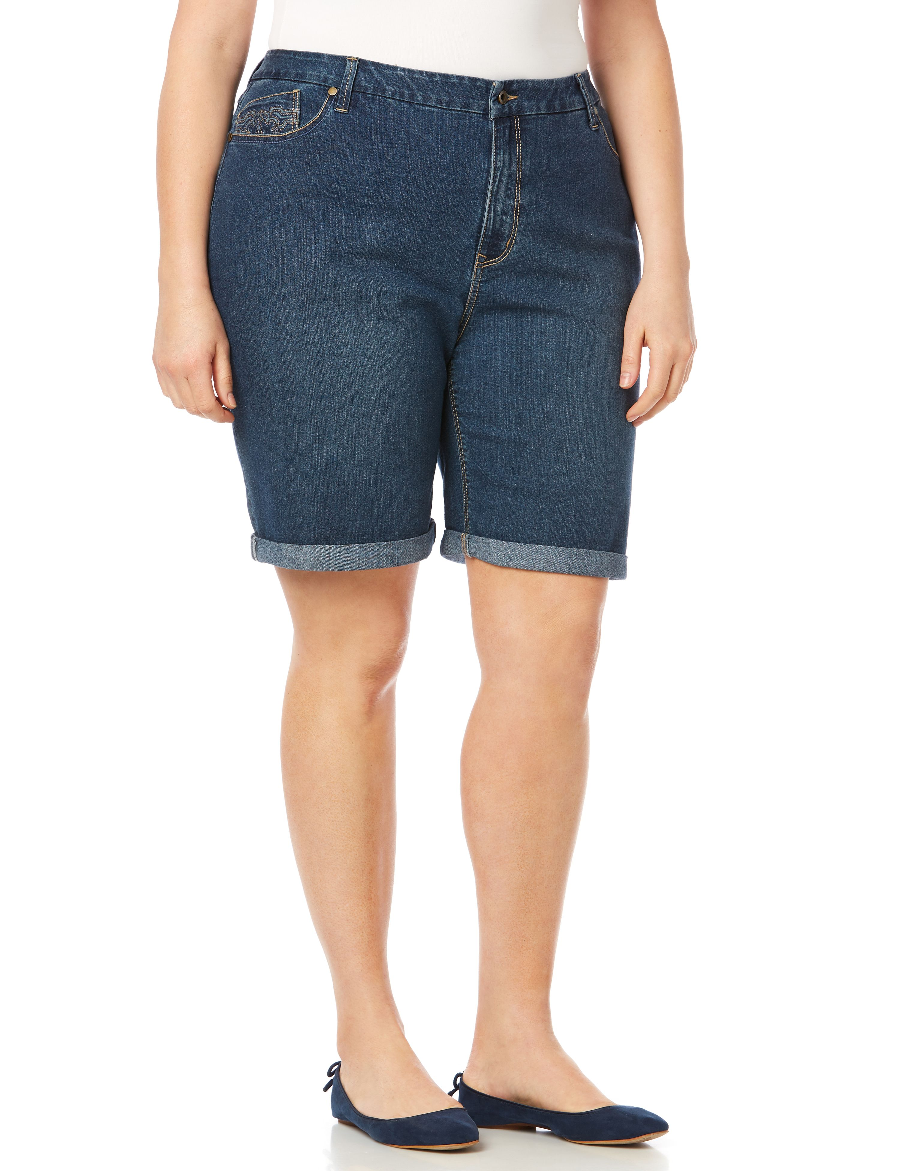Cuffed Denim Short 1087351 Cuffed Denim Short, 11
