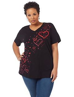 Twinkling Heart Short-Sleeve Tee