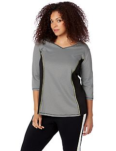 Slim Stripe Active Top