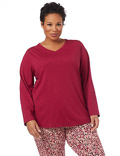 Valentine's Day Drape-Back Sleep Top
