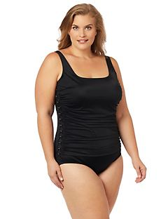 Metallic Mix Tummy Control Swimsuit