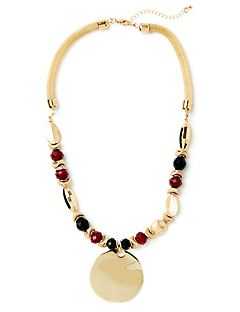 Gilded Cranberry Necklace