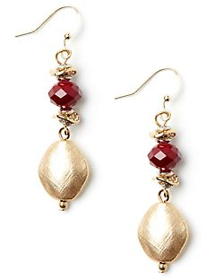 Gilded Cranberry Earrings