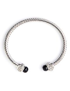 Twisted Cable Bracelet - Black