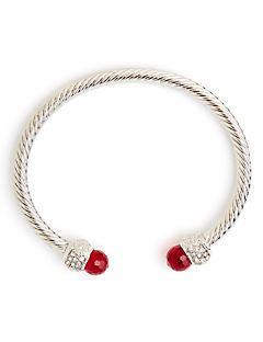 Twisted Cable Bracelet - Red