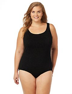 Hamptons Textured Tummy Control Swimsuit