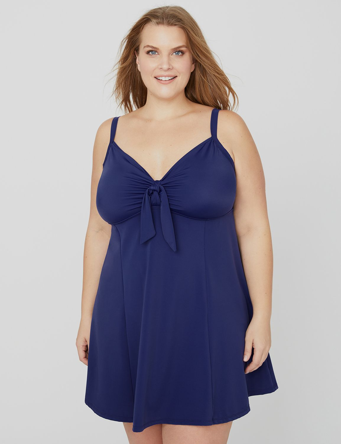 Sugar Hollow Swimdress Tie Front Swim Dress MP-300094180