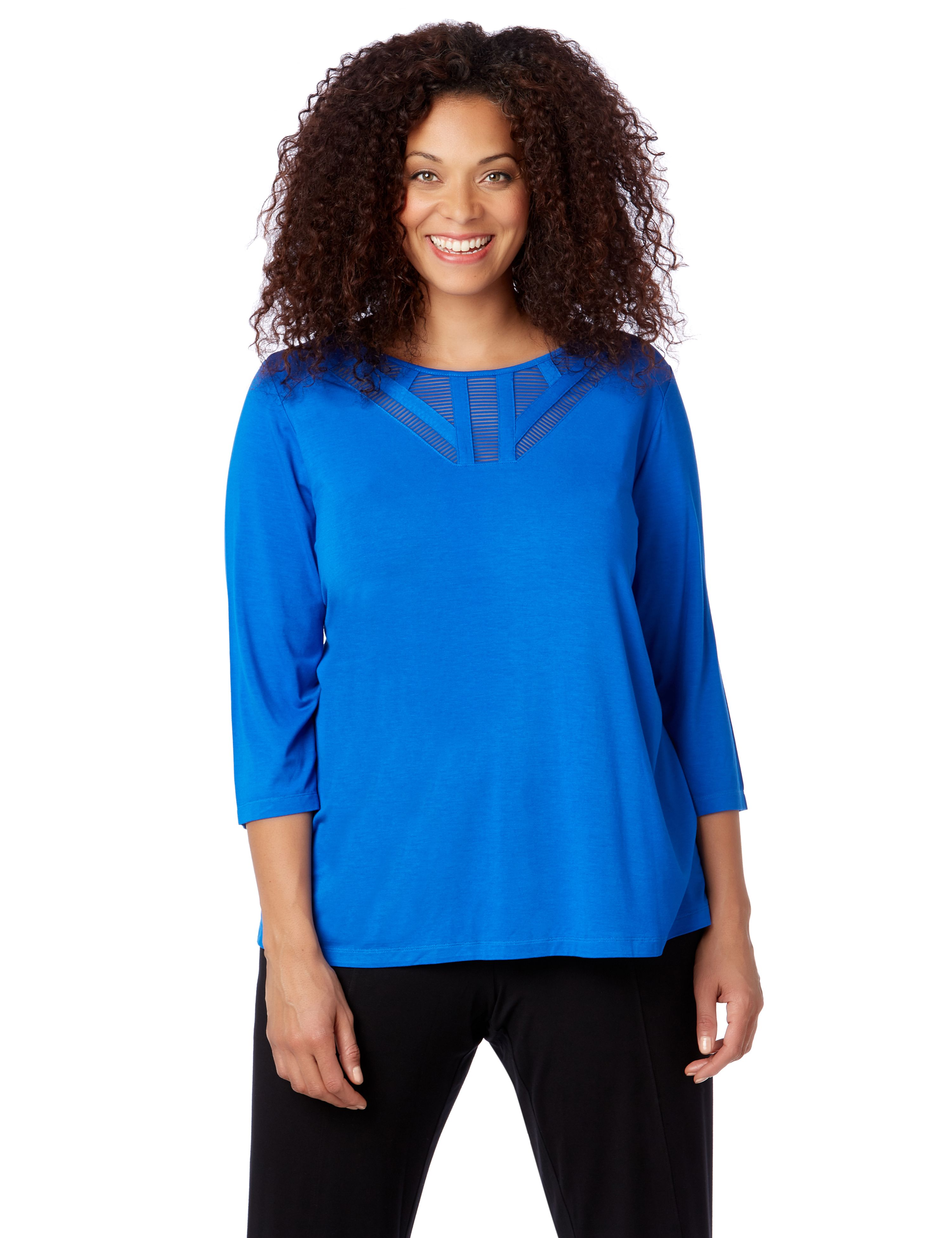 AnyWear Illusion Top 1091179 Anywear Rayon Span Neck Det MP-300094487